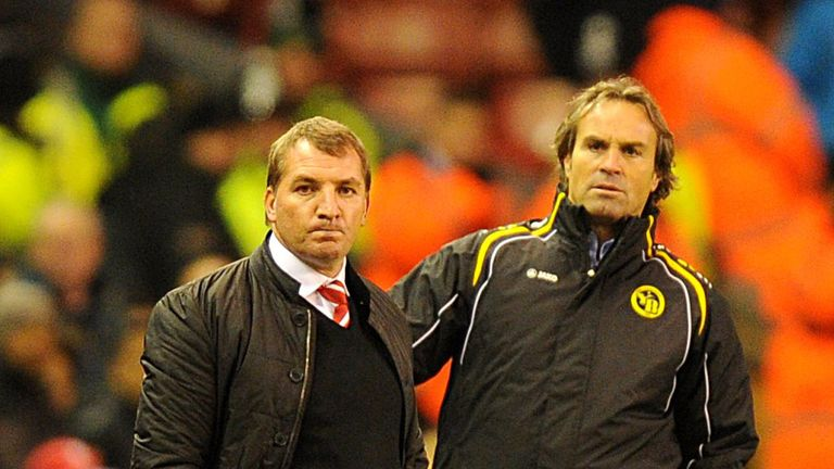 Brendan Rodgers and Martin Rueda: Honours even at Anfield
