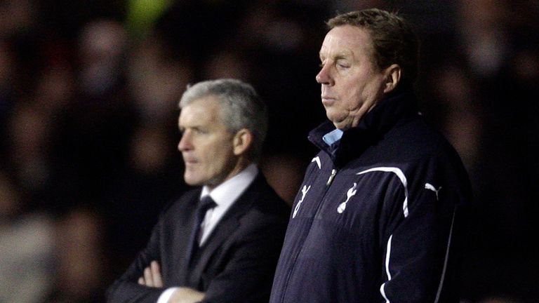 Redknapp is being tipped to replace Hughes in the hotseat
