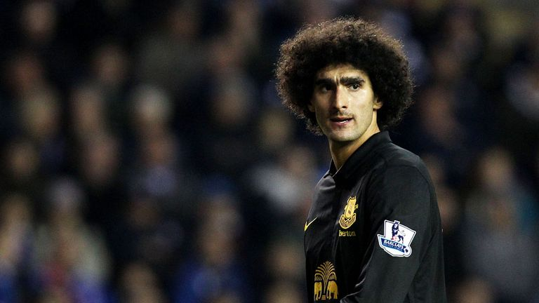 Marouane Fellaini: Everton midfielder has been told he must learn to cope with unsettling opponents by team-mate Sylvain Distin