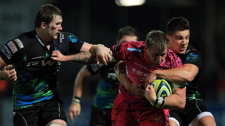 LV= Cup match action at Sandy Park