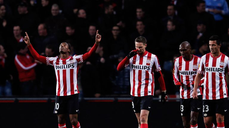 Georgino Wijnaldum (left): Scored winner for PSV against FC Utrecht