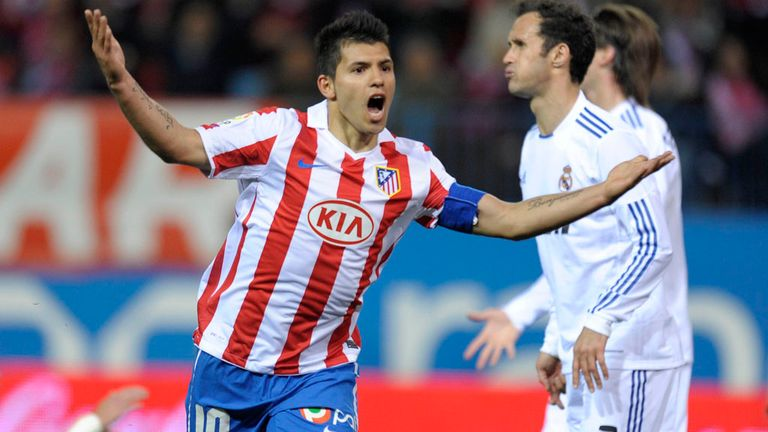 Sergio Aguero: Nets against Real in March 2011 but Atletico still lose 2-1
