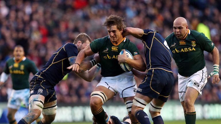 Eben Etzebeth in action against Scotland on Saturday