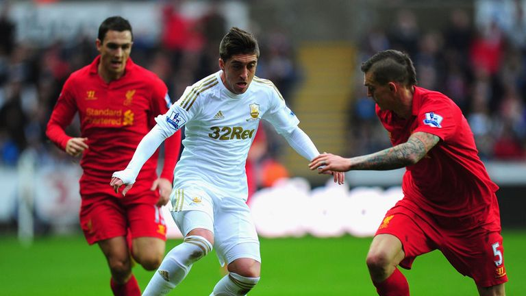 Pablo Hernandez: Came close to breaking the deadlock in Swansea's draw with Liverpool