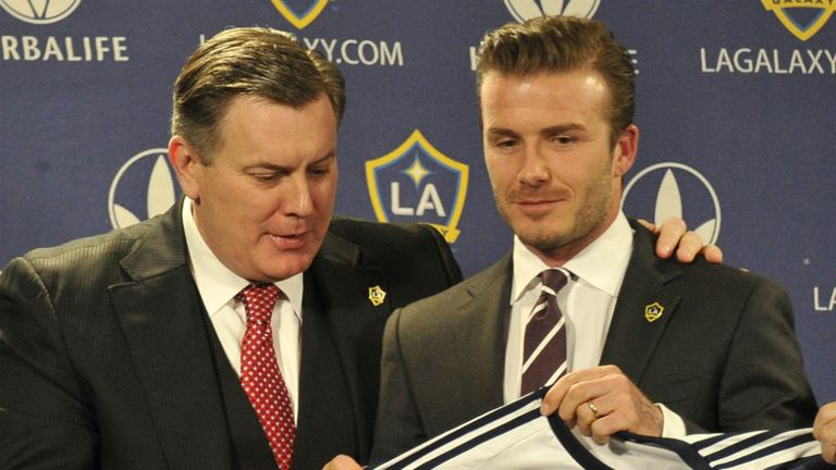 Tim Leiweke and David Beckham: The two could continue to work together at Los Angeles Galaxy