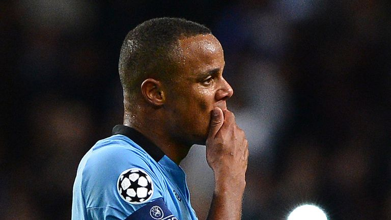 Defender Vincent Kompany is in danger of missing the rest of the season