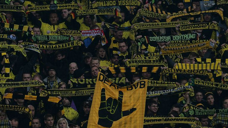 Borussia Dortmund fans have been joining in the protest