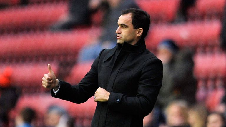 Roberto Martinez: Delighted after watching his side comprehensively beat Aston Villa