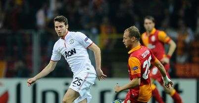 Nick Powell: Headed against the bar on his first European start