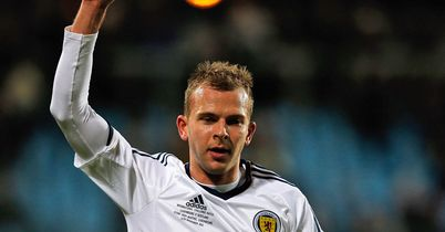 Jordan Rhodes: Scored a first-half double in Scotland's 2-1 win over Luxembourg