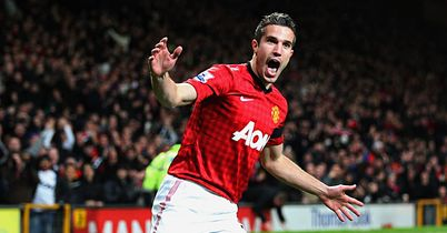 Robin van Persie: Comes into work with a smile on his face at Manchester United