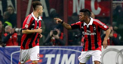 Robinho (right): Scored Milan's winner from penalty spot