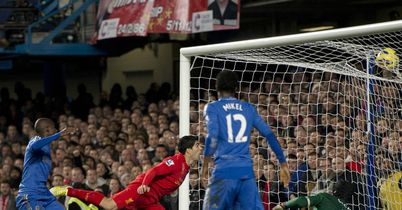 Luis Suarez: Celebrated his Stamford Bridge equaliser on his own