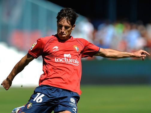 Alvaro Cejudo scored the first of three Osasuna goals