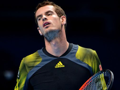 Murray: Defeated in straight sets