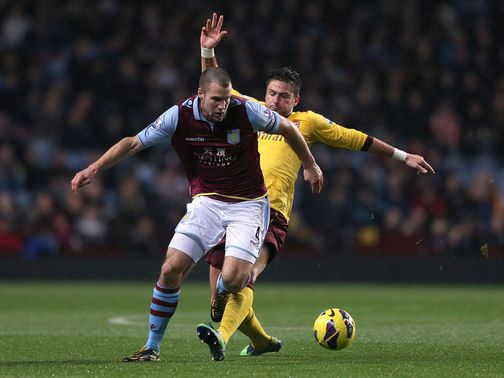 Ron Vlaar is a key injury doubt for Aston Villa