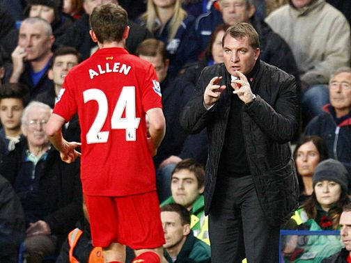 Brendan Rodgers gives a message to Joe Allen