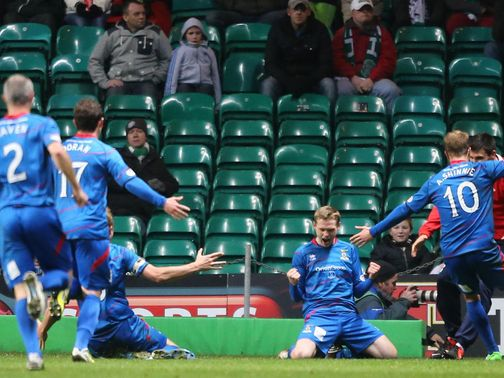 Inverness celebrate against Celtic