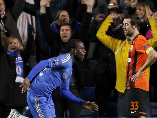 Moses scored for Chelsea in stoppage time
