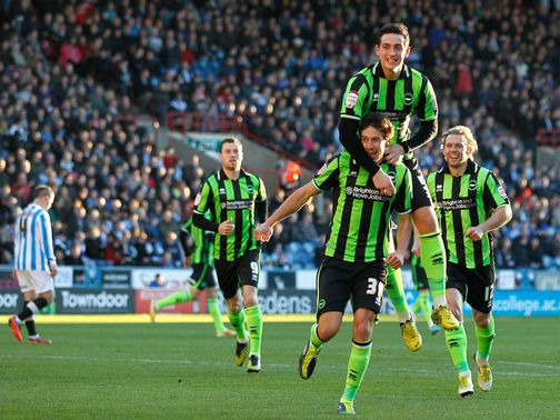 Two-goal Will Buckley celebrates