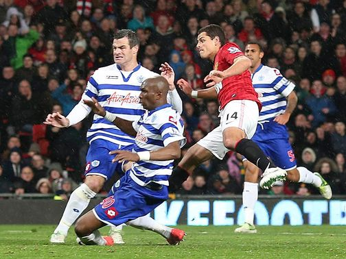 Javier Hernandez scored Man United&#39;s third goal