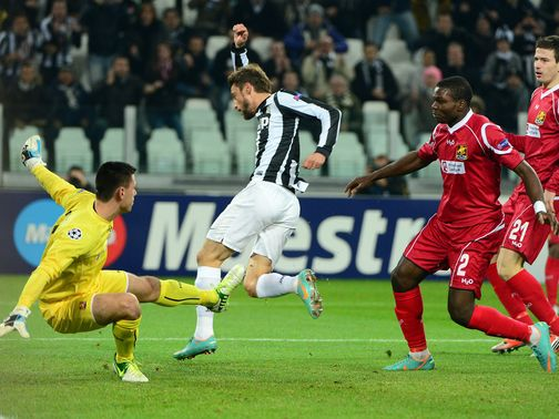 Claudio Marchisio scored Juventus' first goal