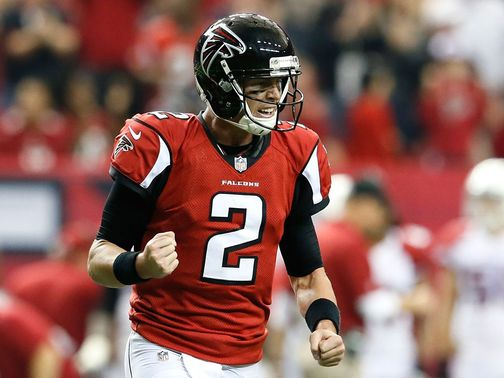 Ryan celebrates Atlanta's fourth-quarter TD