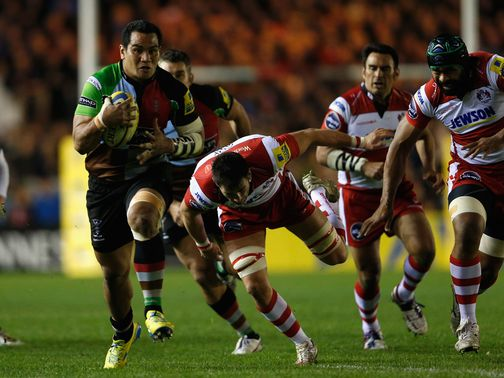 Maurie Fa&#39;asavalu leads a Harlequins charge