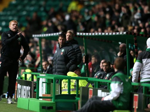 Neil Lennon: Remonstrated with angry fans