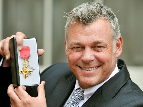 Darren Clarke with his OBE