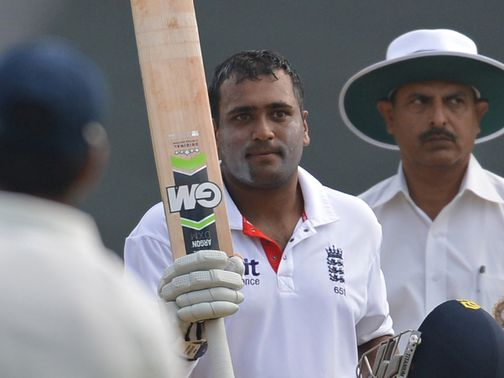 Samit Patel acknowledges his century