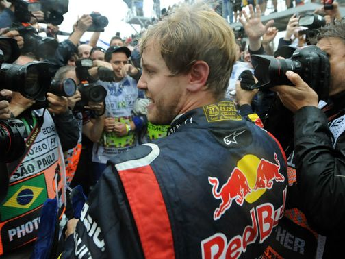 Sebastian Vettel: Clinched a third successive world title