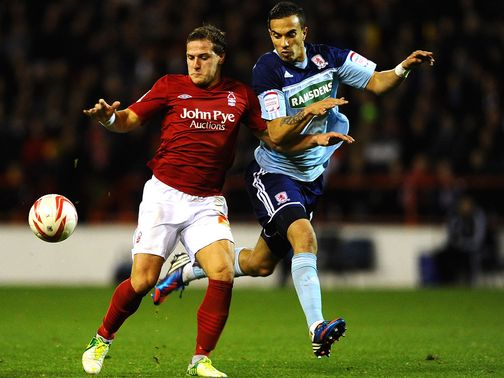 Billy Sharp (l): On target for Forest