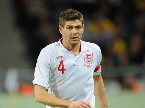 Steven Gerrard: Earned his 100th cap against Sweden