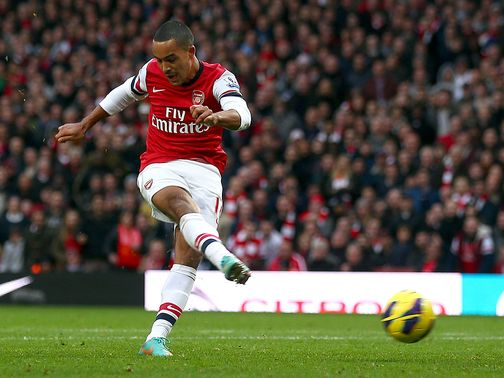 Theo Walcott: Ruled out of Montpellier clash