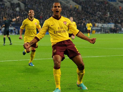 Theo Walcott: Netted his 50th goal for Arsenal in Germany last night