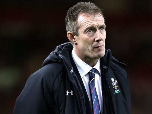 Rob Howley watches the action unfold