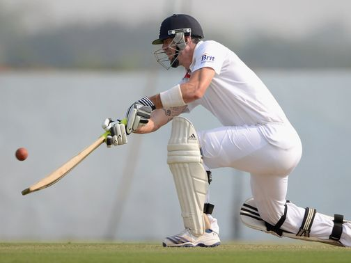 Kevin Pietersen improvises against Haryana