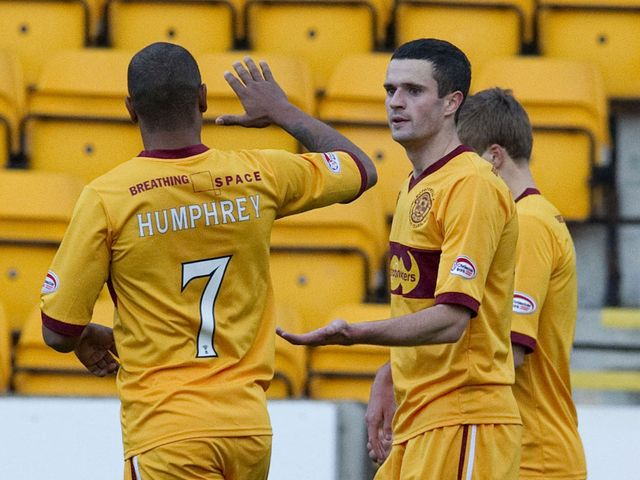 Jamie Murphy celebrates his goal