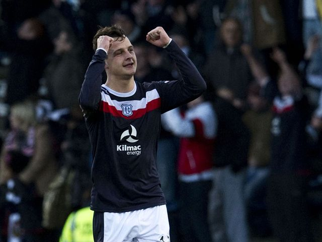 Kyle Benedictus celebrates for Dundee