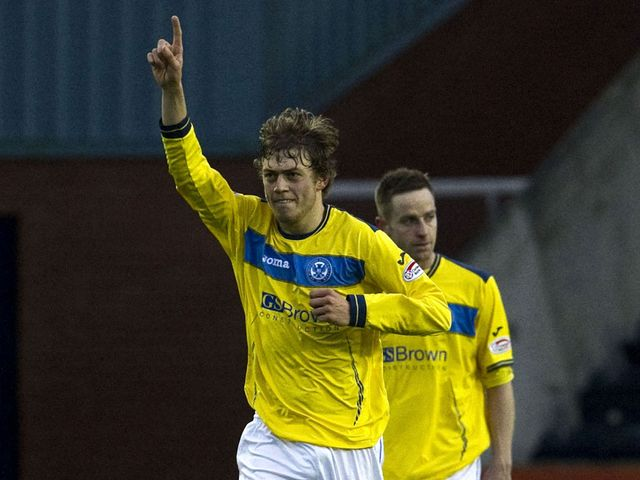 Murray Davidson celebrates the Saints' opener