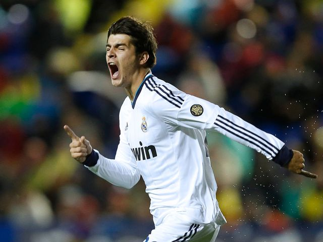 Alvaro Morata celebrates for Real Madrid
