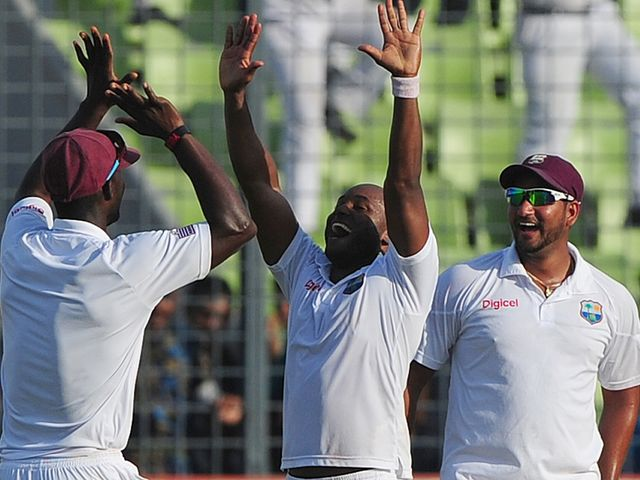 Best celebrates after sealing West Indies' victory