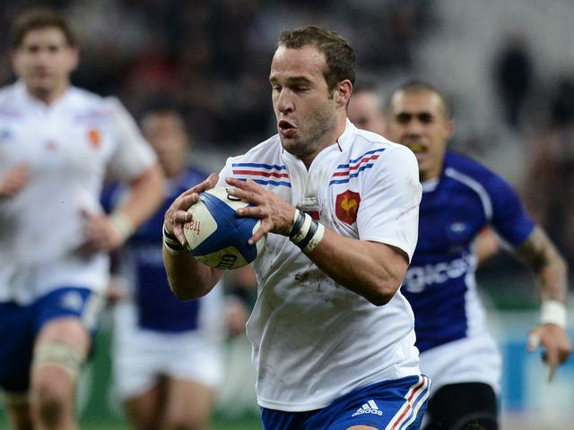 Frederic Michalak in action for France.