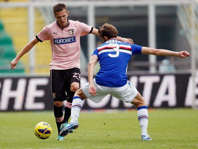 Josip Ilicic faces up to Andrea Costa