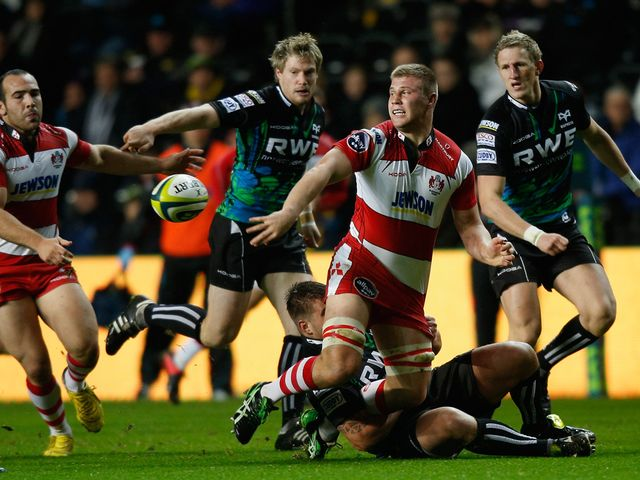 Ross Moriarty leads a Gloucester charge