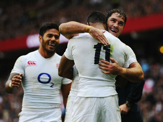 England celebrate at Twickenham