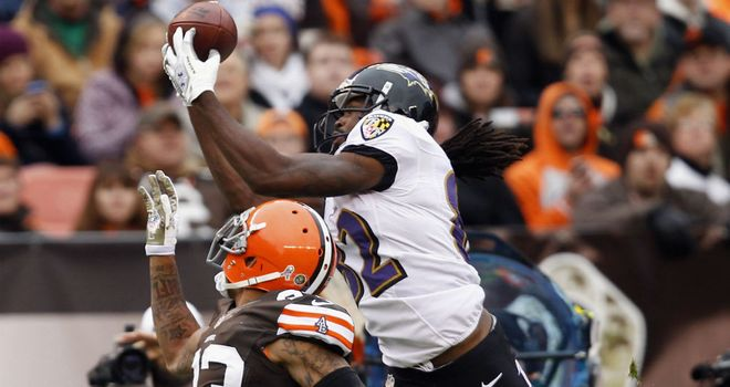 Torrey Smith: Takes the catch above Joe Haden