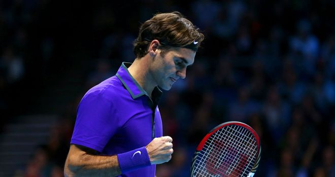 Roger Federer: Through to the semi-finals of the ATP World Tour Finals