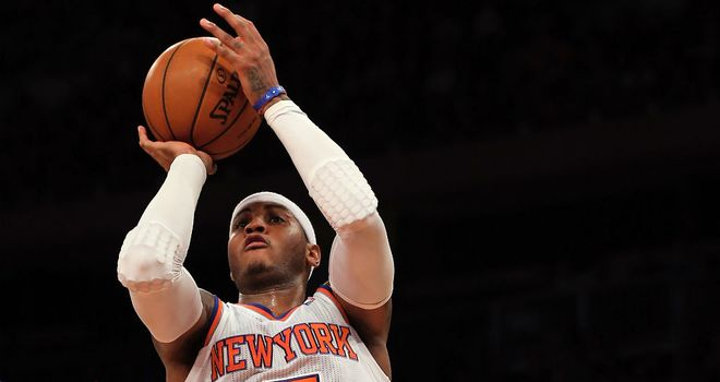 Carmelo Anthony: Weighed in with 29 points for the New York Knicks